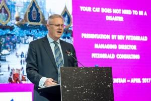 Bev delivers his keynote speech in Kazakhstan