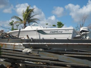 Hurricane Dorian displaces boat